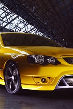 Preview iPhone wallpaper Ford Falcon FPV F6 yellow supercar