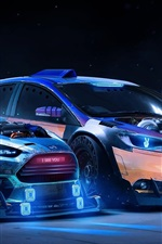 Preview iPhone wallpaper Ford Focus RS 2015 Neon supercars