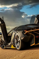 Preview iPhone wallpaper Forza Horizon 3, Lamborghini Centenario rear view
