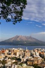 Preview iPhone wallpaper From Kagoshima look to the Sakurajima, Japan