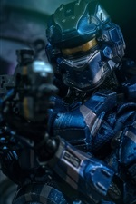 Preview iPhone wallpaper Halo 4, armor, soldier