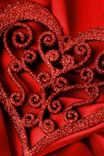 Preview iPhone wallpaper Happy Valentine's Day, love hearts, romantic, red style