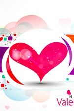 Preview iPhone wallpaper Happy Valentine's Day, love hearts, vector, abstract