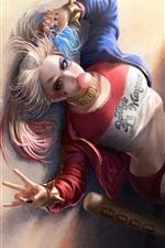 Vorschau des iPhone Hintergrundbilder Harley Quinn, Suicide Squad, Filmkunst 2016