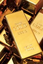 iPhone fondos de pantalla Alta pureza lingotes de oro