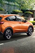 Preview iPhone wallpaper Honda XR-V orange SUV car at city