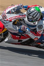Preview iPhone wallpaper Honda motorcycle racer, speed