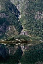 iPhone обои Hyefjorden, Gloppen Муниципалитет, Согн-ог-Фьюране, Норвегия