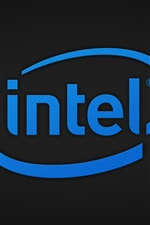 Preview iPhone wallpaper Intel logo, CPU corporation