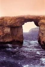 Preview iPhone wallpaper Island of Gozo, Malta, Azure window, sea, coast