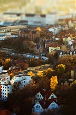 Preview iPhone wallpaper Jena, Deutschland, Thuringia, city, houses, buildings, autumn