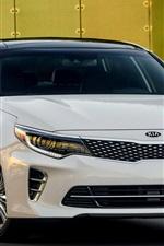 Kia Optima white car