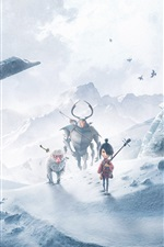Preview iPhone wallpaper Kubo and the Two Strings, cartoon movie 2016