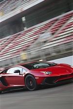Preview iPhone wallpaper Lamborghini Aventador LP750-4 SV red supercar