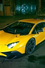 Preview iPhone wallpaper Lamborghini Gallardo LP570-4 SV yellow supercar