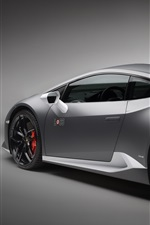 Lamborghini Huracan LP 610-4 gray supercar rear view