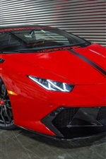 Preview iPhone wallpaper Lamborghini red supercar front view, indoor