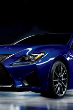 Preview iPhone wallpaper Lexus RC F blue car
