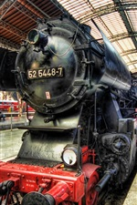 Preview iPhone wallpaper Locomotive, steam train, Dresden, Germany