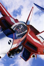 Preview iPhone wallpaper Macross, red and blue fighter