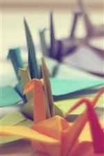 iPhone обои Много красочных бумажных журавликов оригами искусство