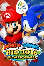Preview iPhone wallpaper Mario and Sonic at the Rio 2016 Olympic Games