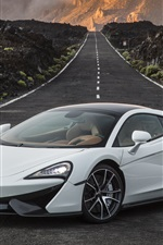 Preview iPhone wallpaper McLaren 570GT white supercar, road