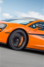McLaren 570S orange supercar speed