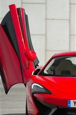 Preview iPhone wallpaper McLaren 570S red supercar front view, wings