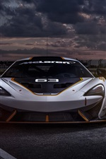 Preview iPhone wallpaper McLaren 650S GT3 race car front view
