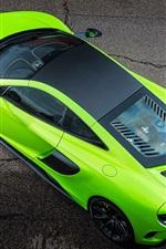 Preview iPhone wallpaper McLaren 675LT green supercar top view