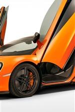 미리보기 iPhone 배경 화면 매 클래 런 570S 오렌지 초차 날개