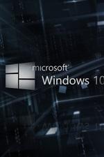 Microsoft Windows 10 logotipo, fundo 3D