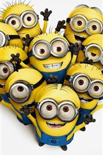 Preview iPhone wallpaper Minions cartoon movie 2015