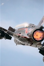 Preview iPhone wallpaper Mirage 2000N aircraft rear view