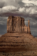 Preview iPhone wallpaper Monument Valley, Arizona, USA, storm, cloudy sky