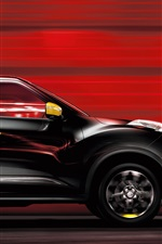 Preview iPhone wallpaper Nissan Juke black car speed