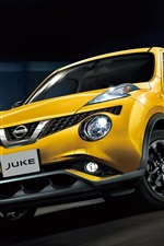 Preview iPhone wallpaper Nissan Juke yellow car speed