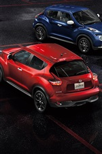 Preview iPhone wallpaper Nissan Juke yellow red blue cars