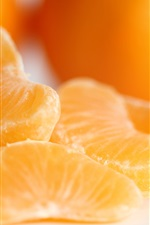 Preview iPhone wallpaper Oranges, fruit macro photography