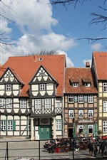 Preview iPhone wallpaper Quedlinburg, Germany, house, trees