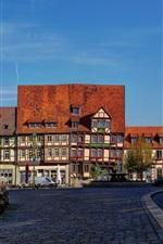 Preview iPhone wallpaper Quedlinburg, Germany, houses, street, road