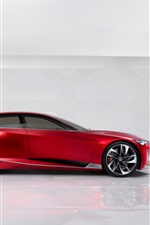Preview iPhone wallpaper Red Acura Precision Concept supercar side view