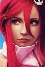 Preview iPhone wallpaper Red hair anime girl, Yoko Littner