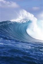 미리보기 iPhone 배경 화면 거친 파도, 바다, 타히티, 프랑스 령 폴리네시아의