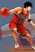 Preview iPhone wallpaper Rukawa Kaede, Slam Dunk
