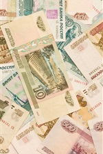 Preview iPhone wallpaper Russian money, RUR, currency, banknotes