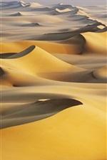 Preview iPhone wallpaper Sand dunes, hot, White Desert, Egypt