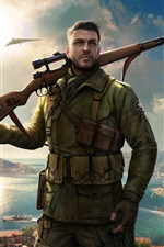Preview iPhone wallpaper Sniper Elite 4, Xbox game