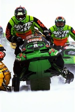 Preview iPhone wallpaper Snowmobile, sports, racing, thick snow
